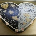 Verspielte Herz-Torte